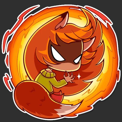 alisa fox stickers telegram 01