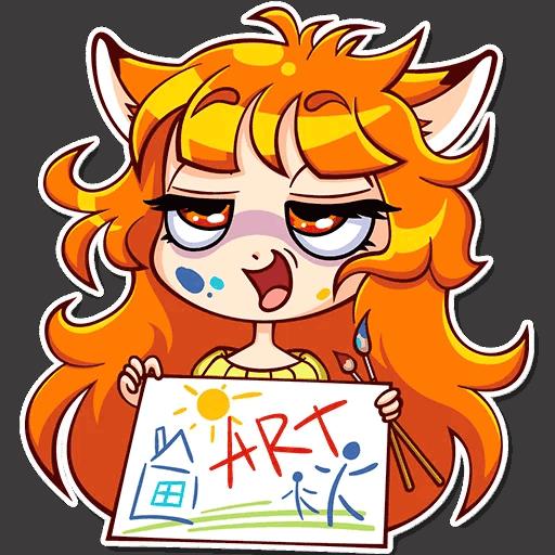 alisa fox stickers telegram 02