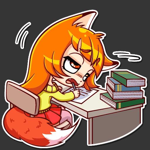 alisa fox stickers telegram 06