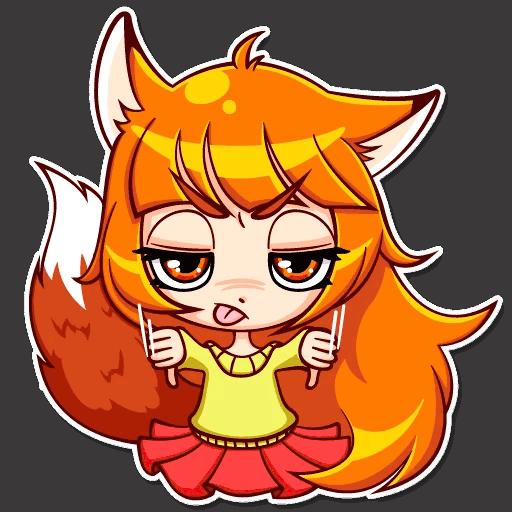 alisa fox stickers telegram 09