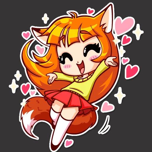 alisa fox stickers telegram 13