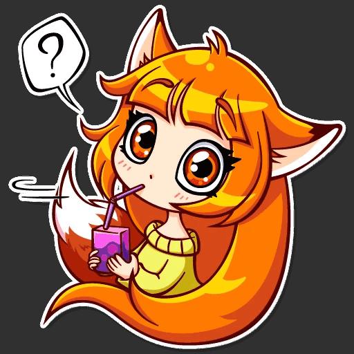 alisa fox stickers telegram 16