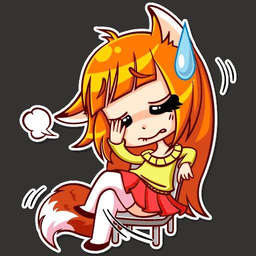 alisa fox stickers telegram 17