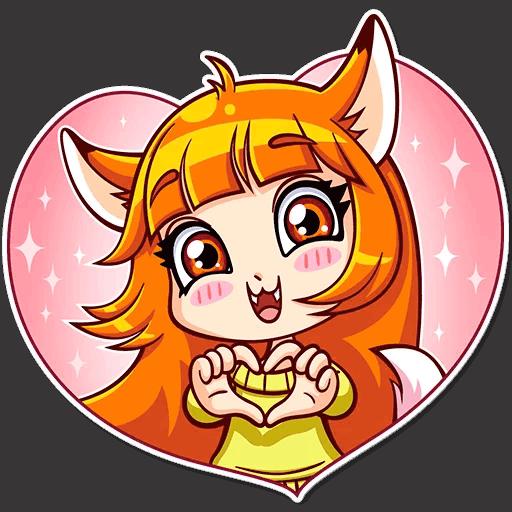 alisa fox stickers telegram 18
