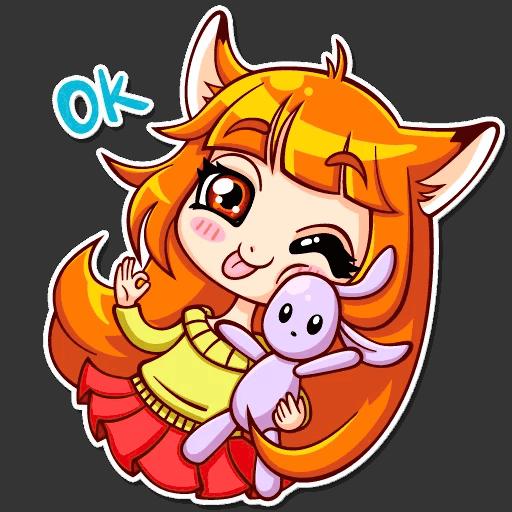 alisa fox stickers telegram 23