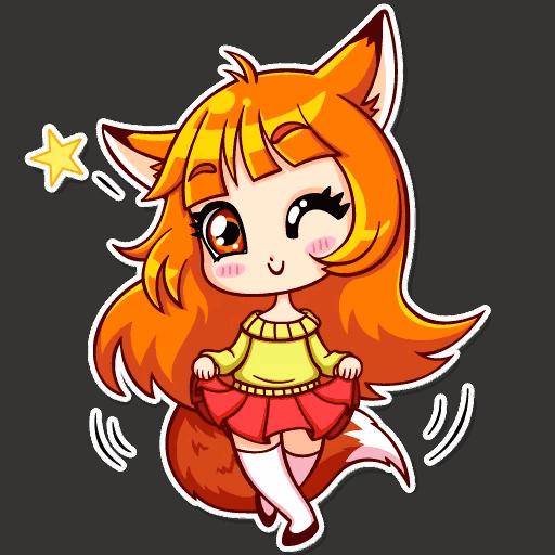 alisa fox stickers telegram 28