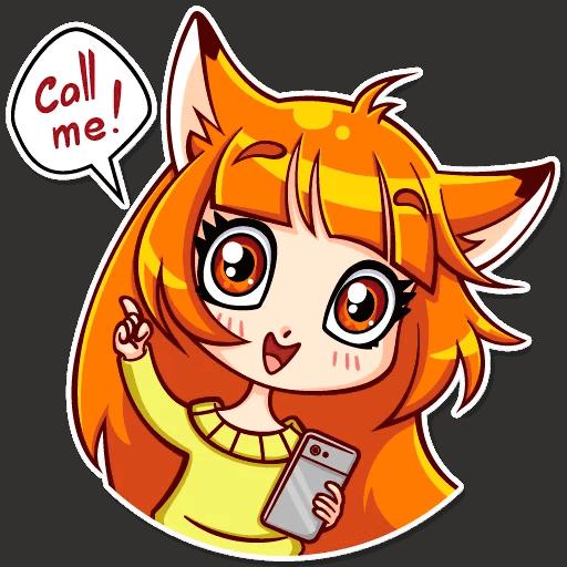 alisa fox stickers telegram 30