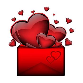 Стикеры Цветы и сердечки