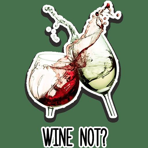 Стикеры Это вино, детка!