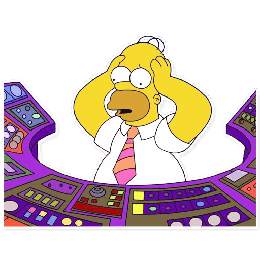 gomer simpsons stickers telegram 03