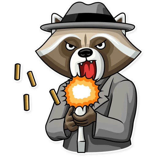 kriminalnyj enot stickers telegram 03