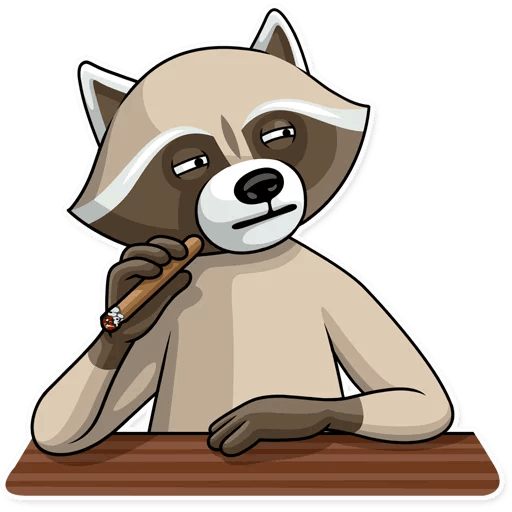 kriminalnyj enot stickers telegram 15