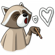 kriminalnyj enot stickers telegram 16