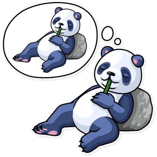 lenivaja panda stickers telegram