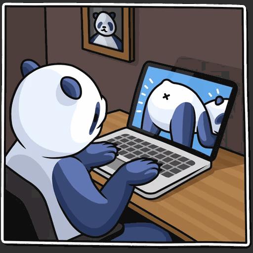 lenivaja panda stickers telegram 02