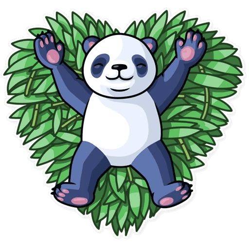 lenivaja panda stickers telegram 08