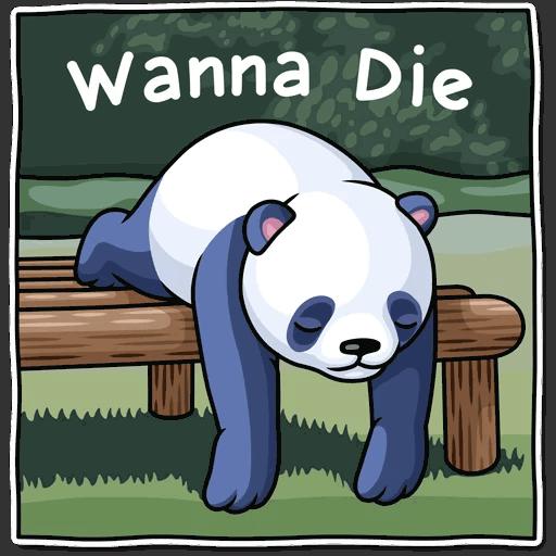lenivaja panda stickers telegram 10