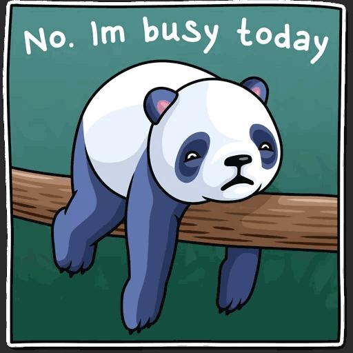 lenivaja panda stickers telegram 11