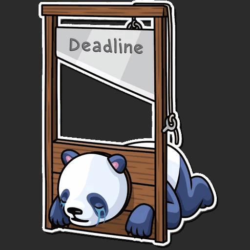 lenivaja panda stickers telegram 12