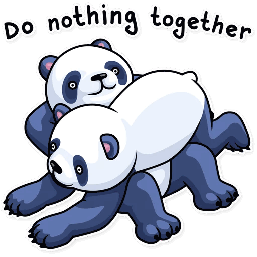 lenivaja panda stickers telegram 21