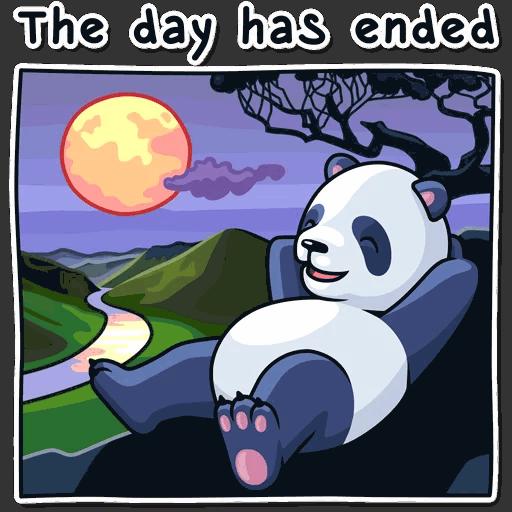 lenivaja panda stickers telegram 23