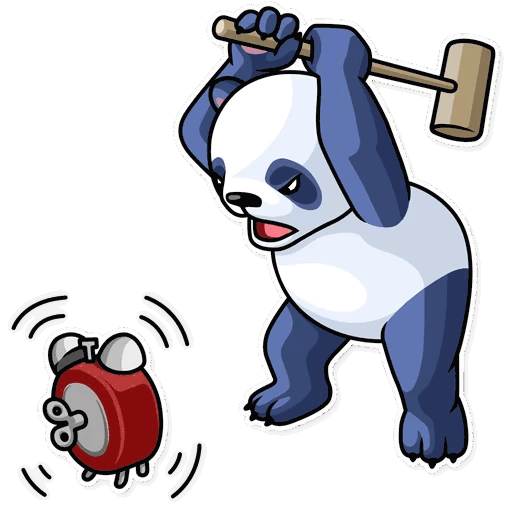 lenivaja panda stickers telegram 30