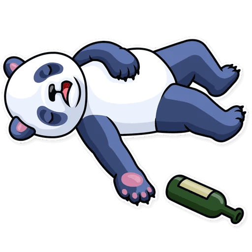 lenivaja panda stickers telegram 33