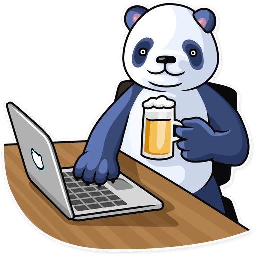 lenivaja panda stickers telegram 36