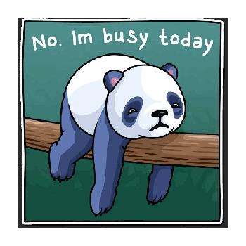Стикеры Ленивая панда