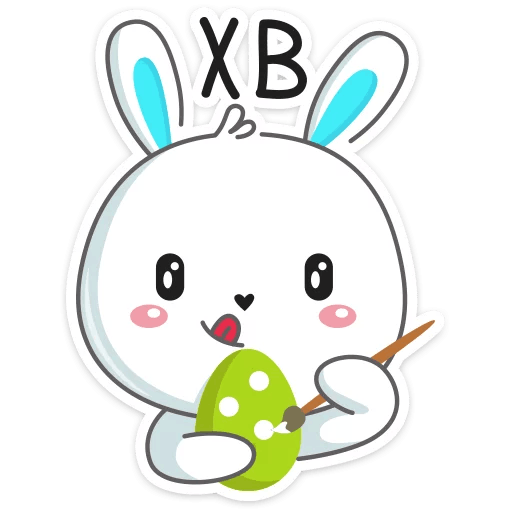 pashalnyj krolik stickers telegram 33