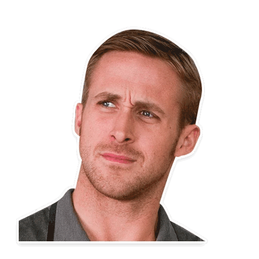 rajan gosling stickers telegram 03