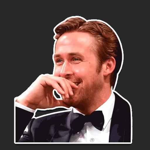 rajan gosling stickers telegram 06
