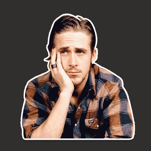rajan gosling stickers telegram 15