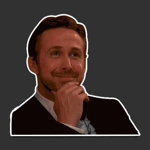 rajan gosling stickers telegram 17