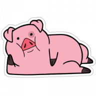 svinka puhlja stickers telegram 06