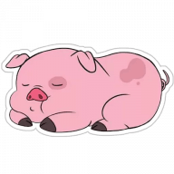 svinka puhlja stickers telegram 10