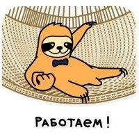 svobodnyj ot zabot lenivec stickers telegram 96