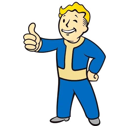 Стикеры Fallout Vault Boy