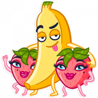 vesjolyj banan stickers telegram