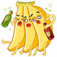 vesjolyj banan stickers telegram 02