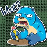 vydra otto stickers telegram 14