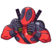 Deadpool stickers telegram 06