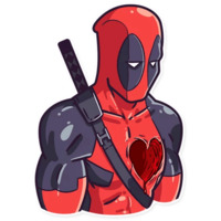 Deadpool stickers telegram 07