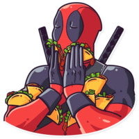 Deadpool stickers telegram 09