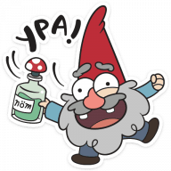 gnomy iz graviti folz stickers telegram 19