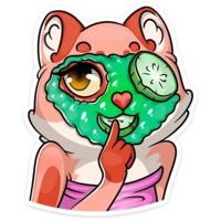 koshachi nezhnosti stickers telegram 25
