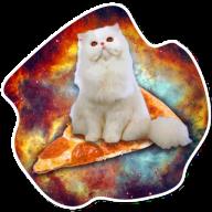 kosmicheskie koty stickers telegram 14