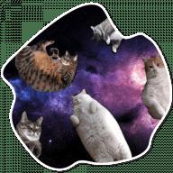 kosmicheskie koty stickers telegram 21
