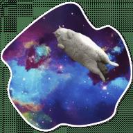 kosmicheskie koty stickers telegram 25