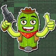 kovboj kaktus stickers telegram